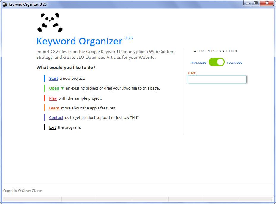 keyword-organizer-interfaz