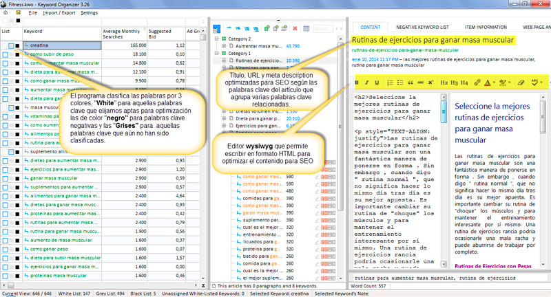 keyword-organizer-interfaz-organicacion-palabras-clave